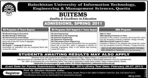 Government After Mba In Information Technology by Admissions Inbs Mba In Balochistan Of