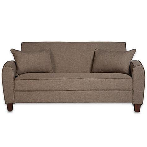 angelo home sofa angelo home gordon sofa in smoke grey sand linen bed