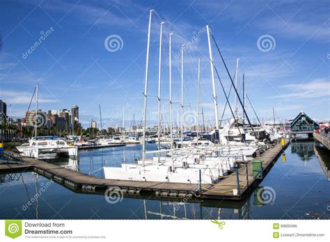 boat cruise wilson wharf yachts moored at wilsons wharf in durban harbor editorial
