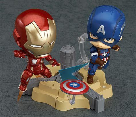 Figure Captain America Ironman Chibi nendoroid 黏土人 captain america 美系英雄 toysdaily 玩具日報 powered by discuz