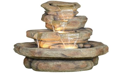 water wall outdoor outdoor waterfall fountains home depot
