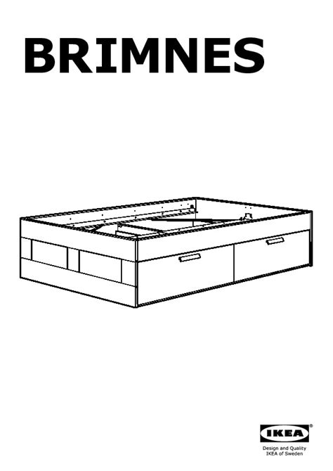 Brimnes Bed Frame With Storage White Brimnes Bed Frame With Storage White L 246 Nset Ikea United States Ikeapedia