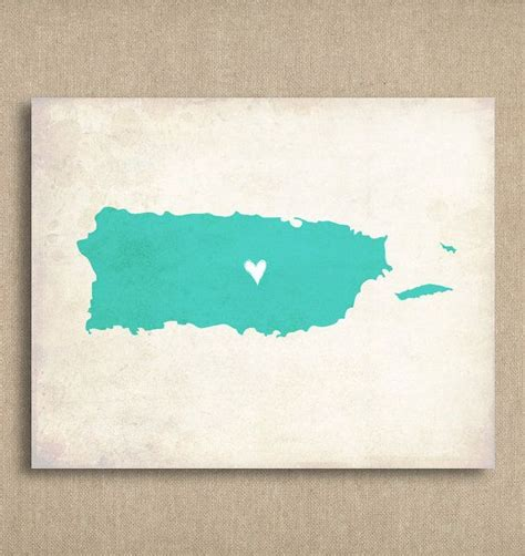 watercolor tattoo puerto rico rustic country map personalized