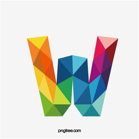 colorful letters colorful letters w letter colorful w png image and