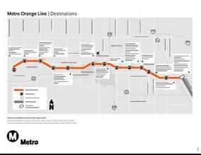 Orange Line Chicago Map by Los Angeles County Metro Orange Line Map