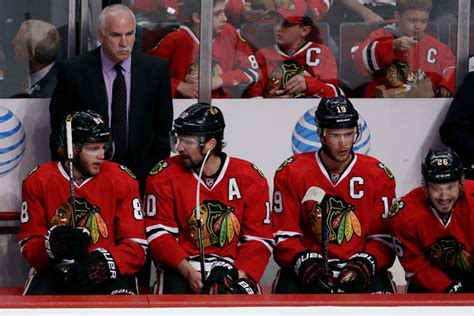 chicago blackhawks bench joel quenneville and patrick sharp photos photos zimbio