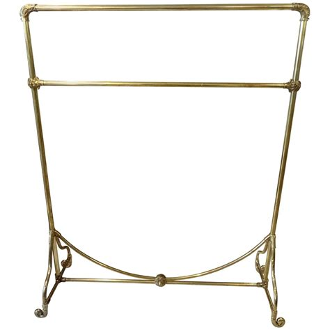 decorative standing coat rack for sale at 1stdibs french brass clothes rack for sale at 1stdibs
