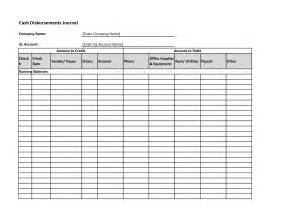 disbursement journal template best photos of payment record template free