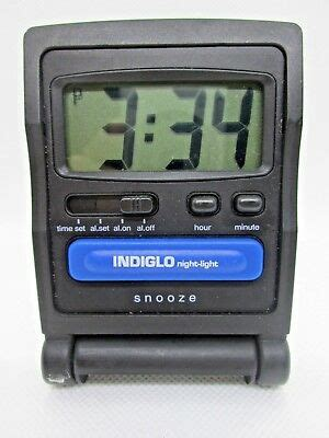 timex indiglo light travel portable folding alarm clock tested working 13 95 picclick
