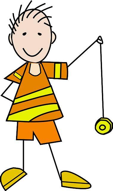dibujos de niños jugando yoyo vector gratis ni 241 o jugando yoyo sonriendo imagen