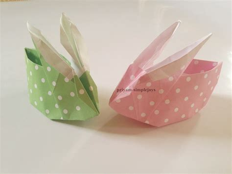 Origami Baskets - simplejoys origami rabbit basket