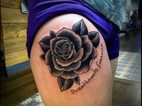 youtube rose tattoo black roses meaning