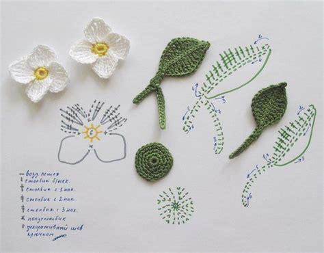 imagenes de flores tejidas a gancho 17 mejores ideas sobre patrones para hojas de ganchillo en