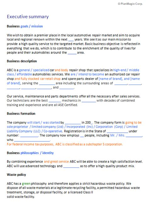Auto Shop Safety Essay by Make Business Plan Clothing Store