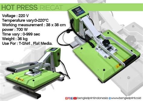 Mesin Press Kaos Riecat jual mesin press kaos riecat murah jakarta printer dtg jakarta