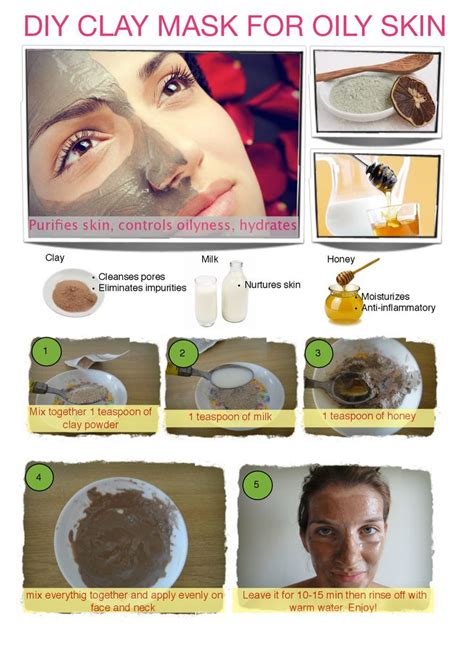 diy clay mask skin stuff for hair and treatmet