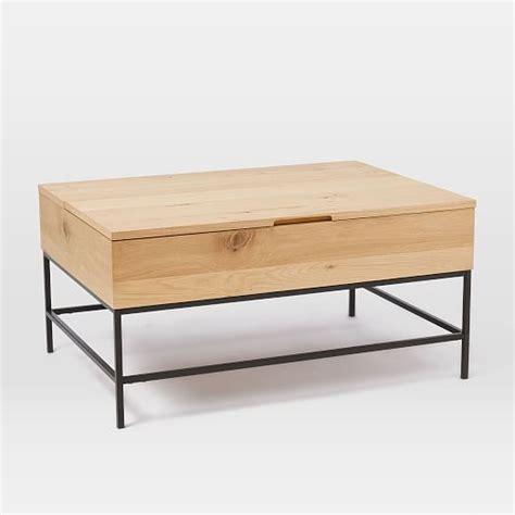 industrial storage coffee table west elm
