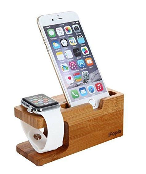 apple stand and iphone stand bamboo wooden charging dock desk station for 38 42mm all