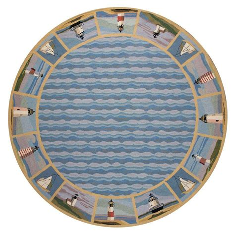 Lighthouse Area Rug Kas Rugs Lighthouse Border Blue 7 Ft 6 In X 7 Ft 6 In Area Rug Col180276x76ro The