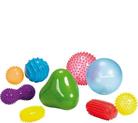 Edushape Rainbow Soft edushape sensory set of 9 qvc