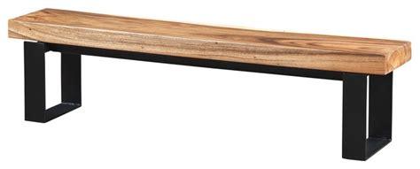 black metal indoor bench bench made of suar wood with black metal legs rustic