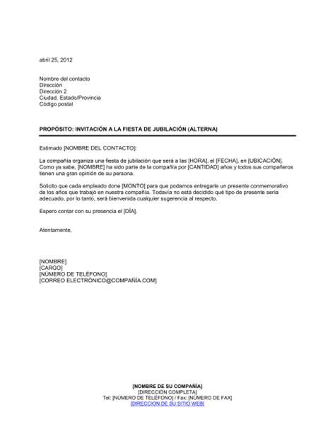 frases para jubilacion jefe ejemplo de carta de formato de invitacion jubilacion invitaci 243 n de la