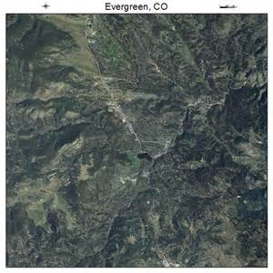 aerial photography map of evergreen co colorado