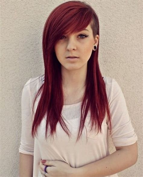 long hair sweeped side fringe shaved 36 best half shaved hairstyles images on pinterest