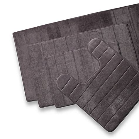 Memory Foam Contour Bath Rug Buy Microdry 174 Ultimate Performance The Original Memory Foam Contour Mat In Charcoal From Bed