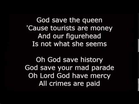 full version god save queen lyrics sex pistols god save the queen lyrics tv youtube