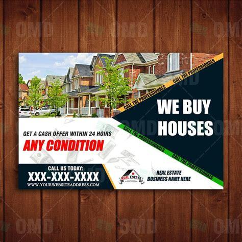 We Buy Houses Marketing Postcard Design Realestatemarketing Real Estate Marketing Pinterest We Buy Houses Postcard Template
