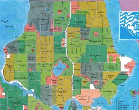 seattle neighborhood map seattle neighborhoods megan kukull