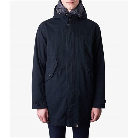 Hooded Cotton Parka cotton zip up hooded parka pretty green shop