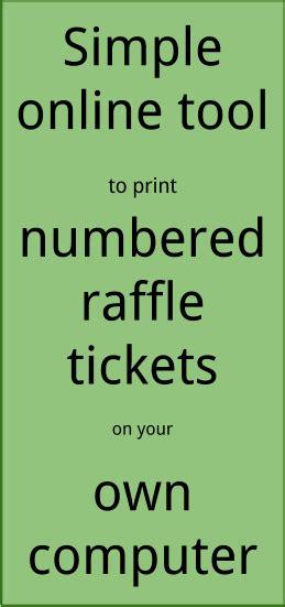 printing raffle tickets at home printing raffle tickets at home print numbered tickets in