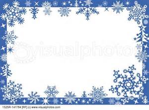 Winter frame with snowflakes vector stock photos royalty free