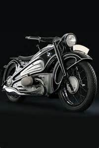 BMW Motorcycle Black and White