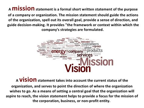 sle business plan vision statement vision statement exles for business yahoo image