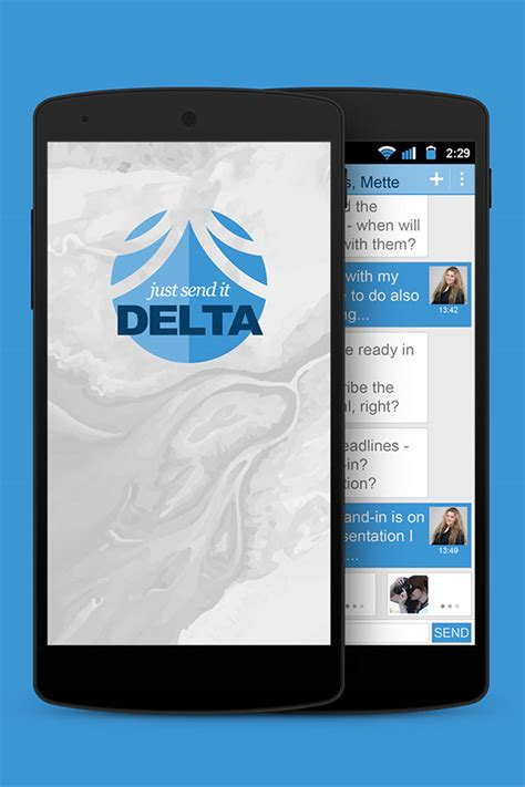 delta app android delta im app on behance