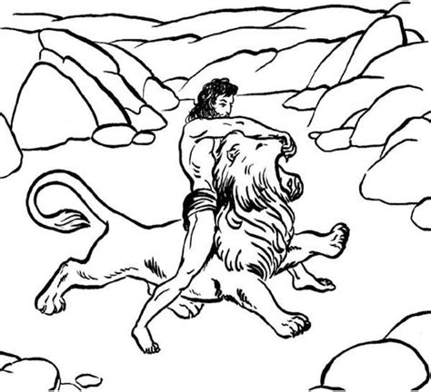 samson coloring pages print coloring pages