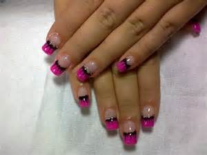 Pink and black nail art healthy women blog