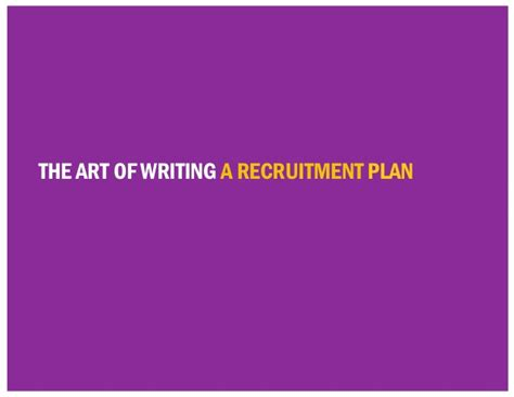 recruit rockstars the 10 step playbook to find the winners and ignite your business books the of writing a recruitment plan