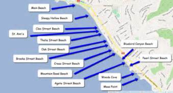 southern california map of beaches laguna california festivals coves and