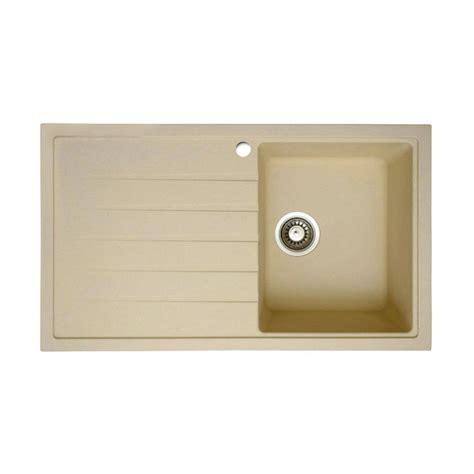 cream kitchen sinks bluci piazza 1 0 compact granite sink in cream sinks