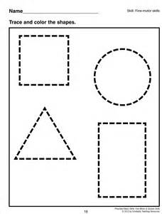 Tracing squares colouring pages page 2