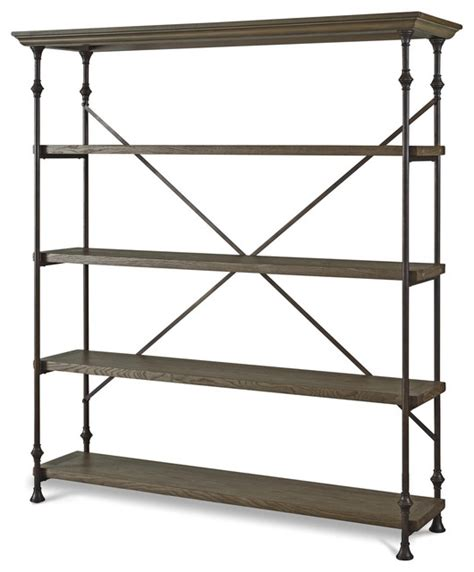industrial oak wood metal bakers rack shelving