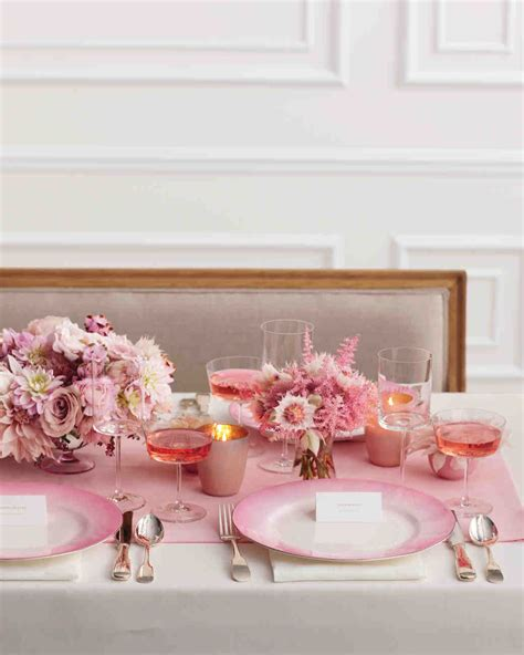 Baby Shower Table Setting by Pink Bridal Shower Ideas And Decorations We Love Martha