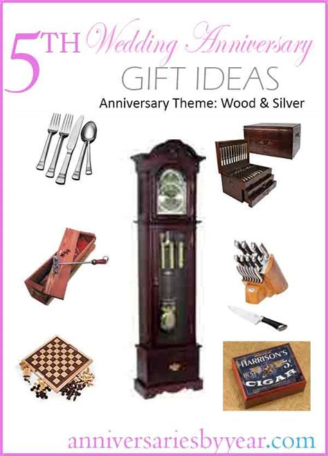 5th anniversary fifth wedding anniversary gift ideas