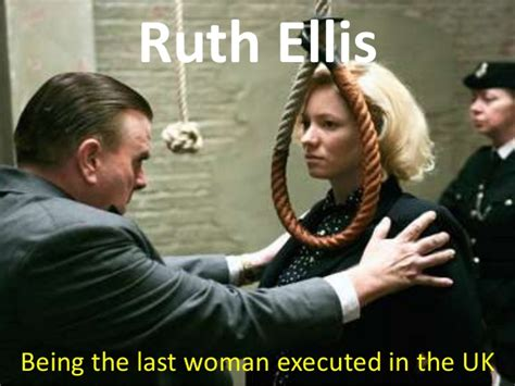Electric Chair Execution States by Ruth Ellis The Last Women To Be Hanged In The United Kingdom