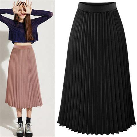 Rok Chiffon Layer Flare Skirt J775193 pleated skirts layer dress