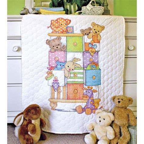 Cross Stitch Baby Quilt Patterns by Baby Drawers Baby Quilt By Dimensions Cross Stitch Kits Patterns